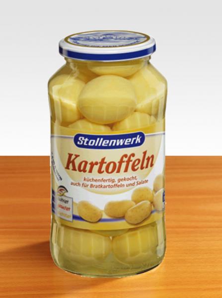Stollenwerk Kartoffeln im Glas 720g - Küchenfertig, gekocht, auch für Bratkartoffeln und Salate geei