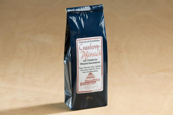 Cranberry - Pfirsich, aromatisierter Schwarztee