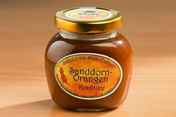Sanddorn-Orange Konfitüre 225g Glas