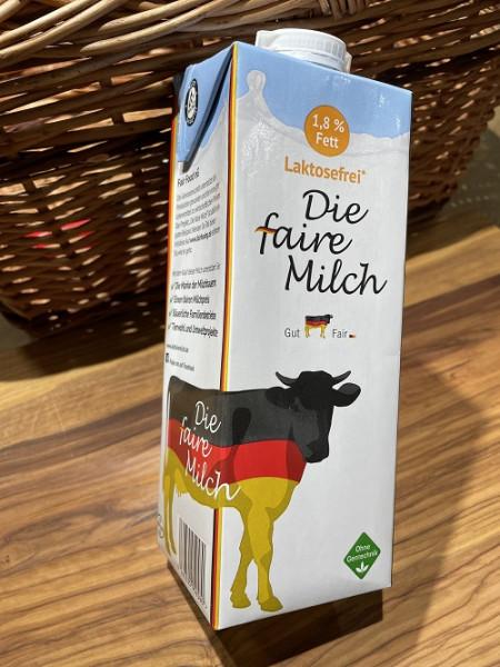 Die faire Milch, 1,8% Fett, genfrei