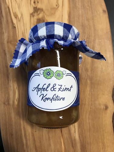 Apfel + Zimt Konfitüre 280g Glas