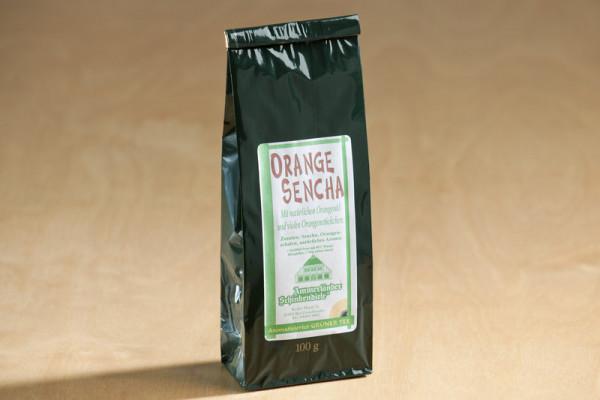 Sencha Orange, aromatisierter Grüntee