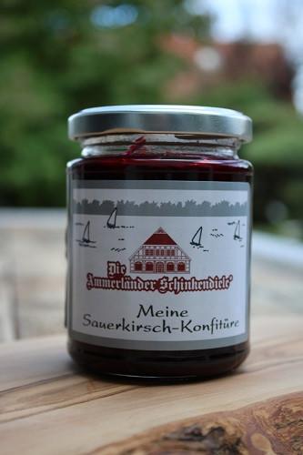 Meine Sauerkirsch-Konfitüre 250g Glas