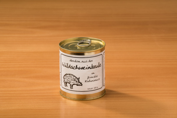 Wildschweinkeule in feinster Rahmsauce 300g