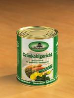 Grünkohlgericht mit Pinkel, Kassler und Kochwurst in 800g Dose