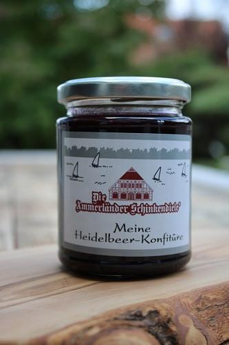 Meine Heidelbeer-Konfitüre 250g Glas